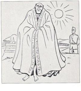 Caricatura de una campaña nazi contra el clero católico