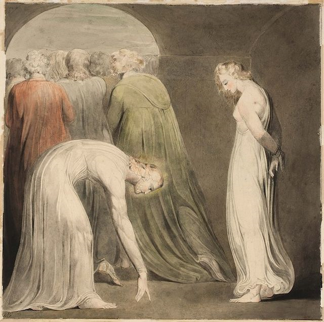 William Blake, La mujer sorprendida en adulterio