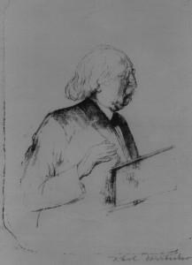 Hermann Cohen, litografía de Carl Doerbecker